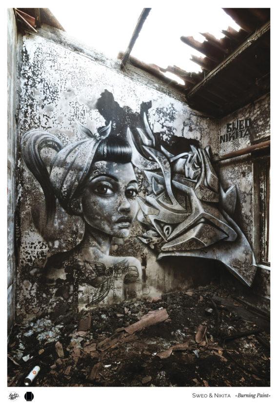 Gab-Affiche-Sweo-&-Nikita-Burning-Paint-Grau-du-roi