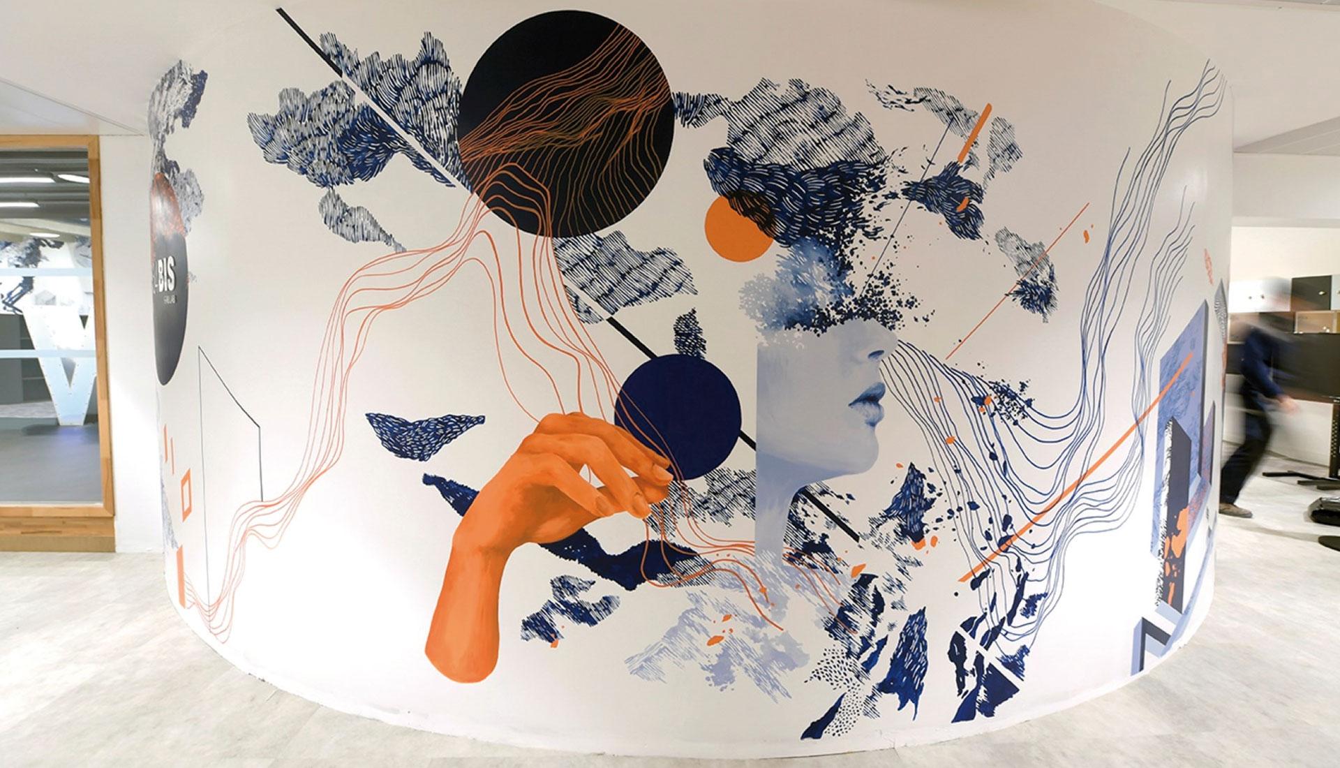 Clara Langelez Fresque Sanofi Montpellier Fab Lab