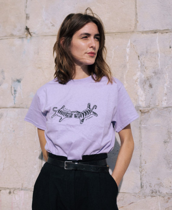 Sarah Guiraudon Kidhasnotime tattoo illustration tigre concours t shirt cercle Rouge