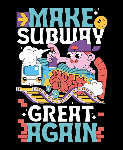 Olivier Zelen Make Subway Great Again t Shirt Cercle Rouge Store Montpellier