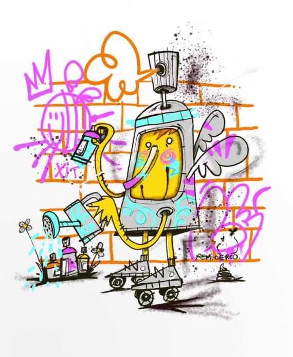 Rémi Cierco T Shirt Cercle Rouge Montpellier Graffiti Street Art