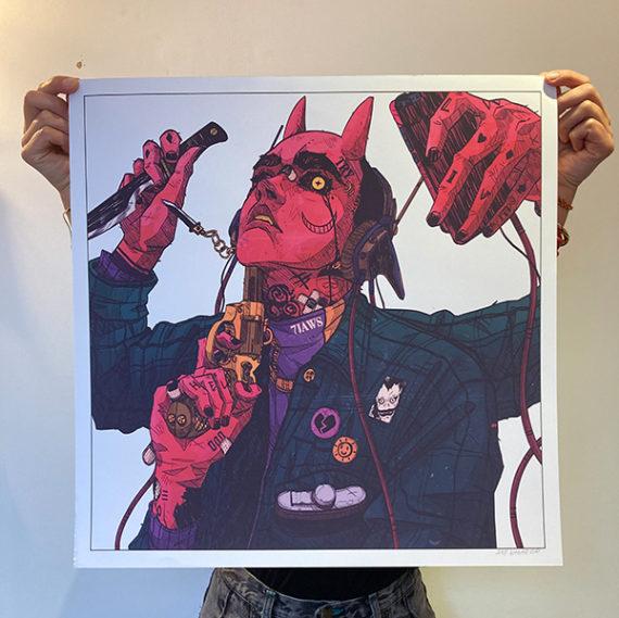 NUI VAGAB Print série limitée Ghost Cercle Rouge Store