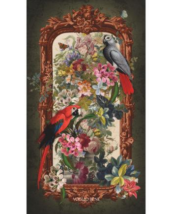 Voglio Bene - Perroquets - Tenture 144 x 250