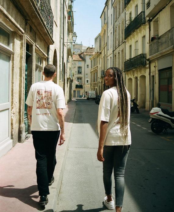Nui Vagab t-Shirt Heureusement il y a l'amour Cercle Rouge