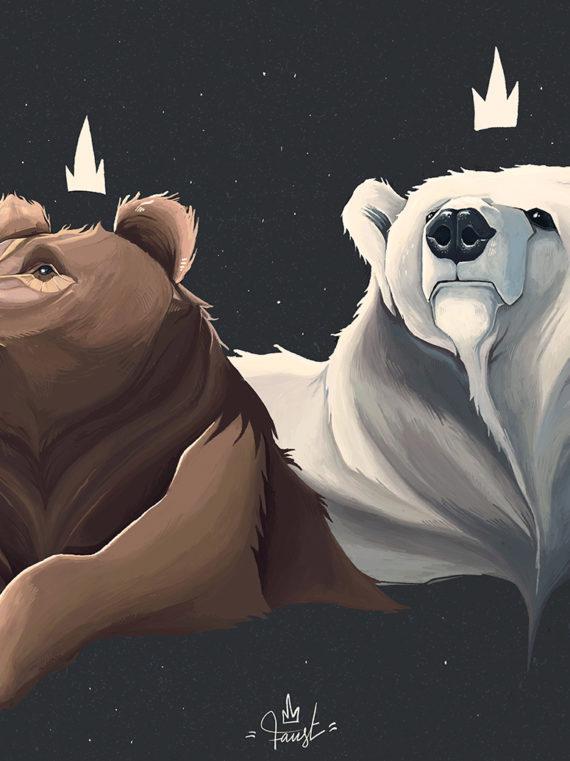 Faust Artstation 2021 Print Bears Edition limité 30x40
