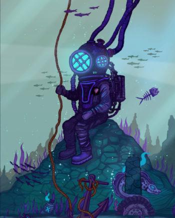 Nazu Artstation 2021 Print Aquarium Edition limité 30x40