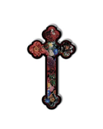 Pin's Voglio Bene Crucifix Cercle Rouge Store Montpellier
