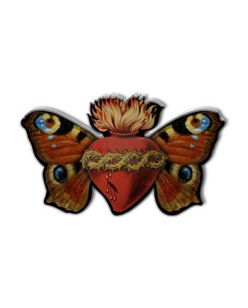 Pin's Voglio Bene Papillon Sacré Cercle Rouge Store Montpellier